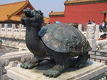Памятник черепахе в Запретном городе, Китай